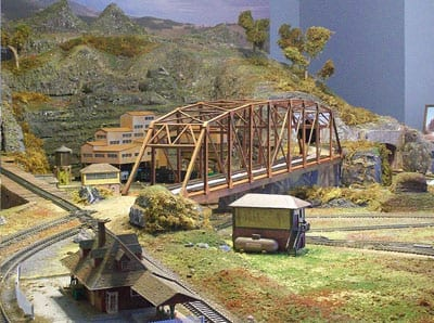 Model Railroad Bridge & Mountains