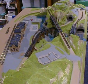 3' X 5' Outstanding N Scale Model Train Layout Image 1