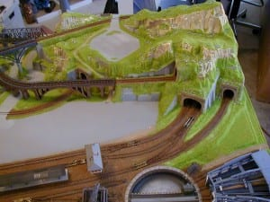 3' X 5' Outstanding N Scale Model Train Layout Image 3