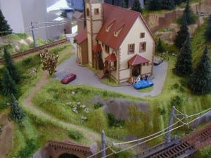 3' X 5' Outstanding N Scale Model Train Layout Image 5