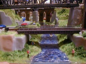 3' X 5' Outstanding N Scale Model Train Layout Image 8