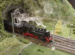 Steam Model Train of European Railroad