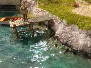 model railroad hobbyist magazine water scene