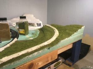 4x8 HO Scale Layout Mountain